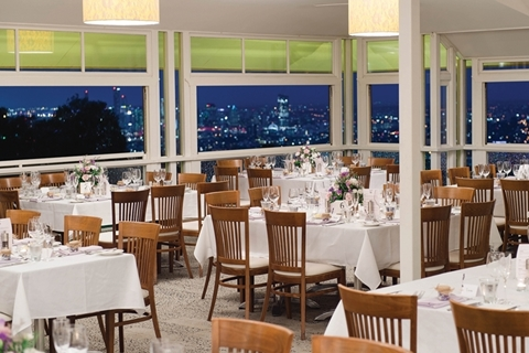 Wedding Venue - Summit Restaurant & Bar - Summit Restaurant, Deck and Bar - Upper Level 1 - Receptions in the Summit offer spectacular views of Brisbane City on Veilability