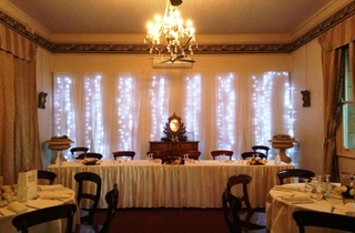 Wedding Venue - Abbey of the Roses - Long Room 2 - Long Bridal with round table for up to 100 guests on Veilability