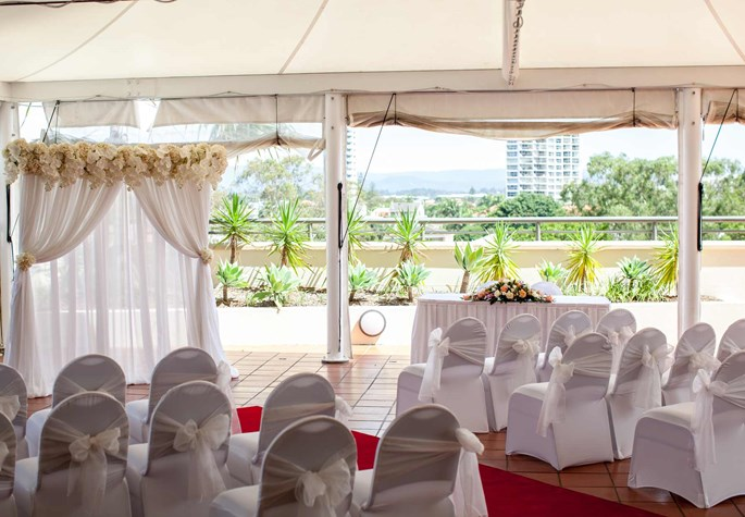 Wedding Venue - Watermark Hotel & Spa Gold Coast - Poolside Marquee 2 on Veilability