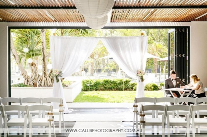 Wedding Venue - RACV Noosa Resort - Undercover Terrace 1 - Terrace Ceremony on Veilability
