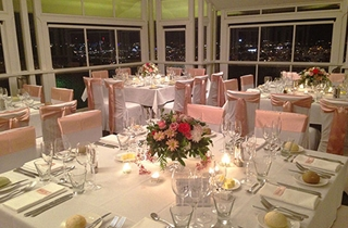 Wedding Venue - Summit Restaurant & Bar - Summit Restaurant, Deck and Bar - Upper Level 2 - Square Tables - stunning! on Veilability