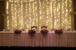 Wedding Venue - Shangri La Gardens  - Regency Room 8 - Waterfall Light Backdrop on Veilability