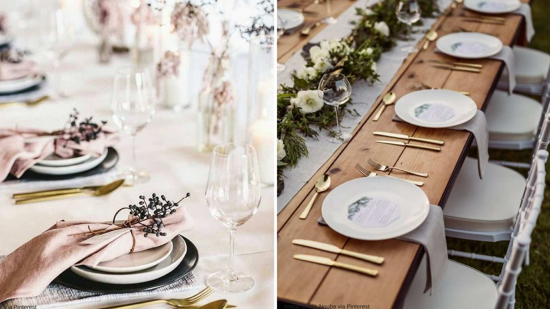 Your basic table settings don't have to look plain and boring