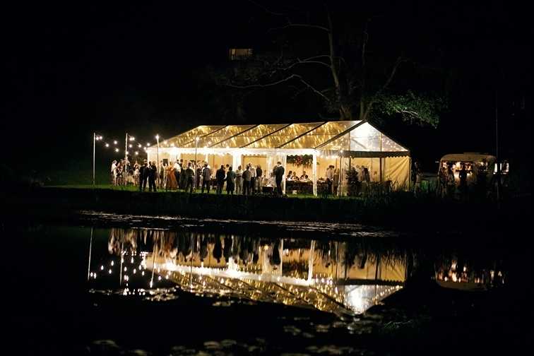 Wedding Venue - Montville Country Cabins - Lakeside Lawn - Marquee & Under the Stars Receptions 1 on Veilability