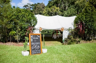 Wedding Venue - Mt Glorious Getaways - Lager Weddings: Marquee Site 2 on Veilability