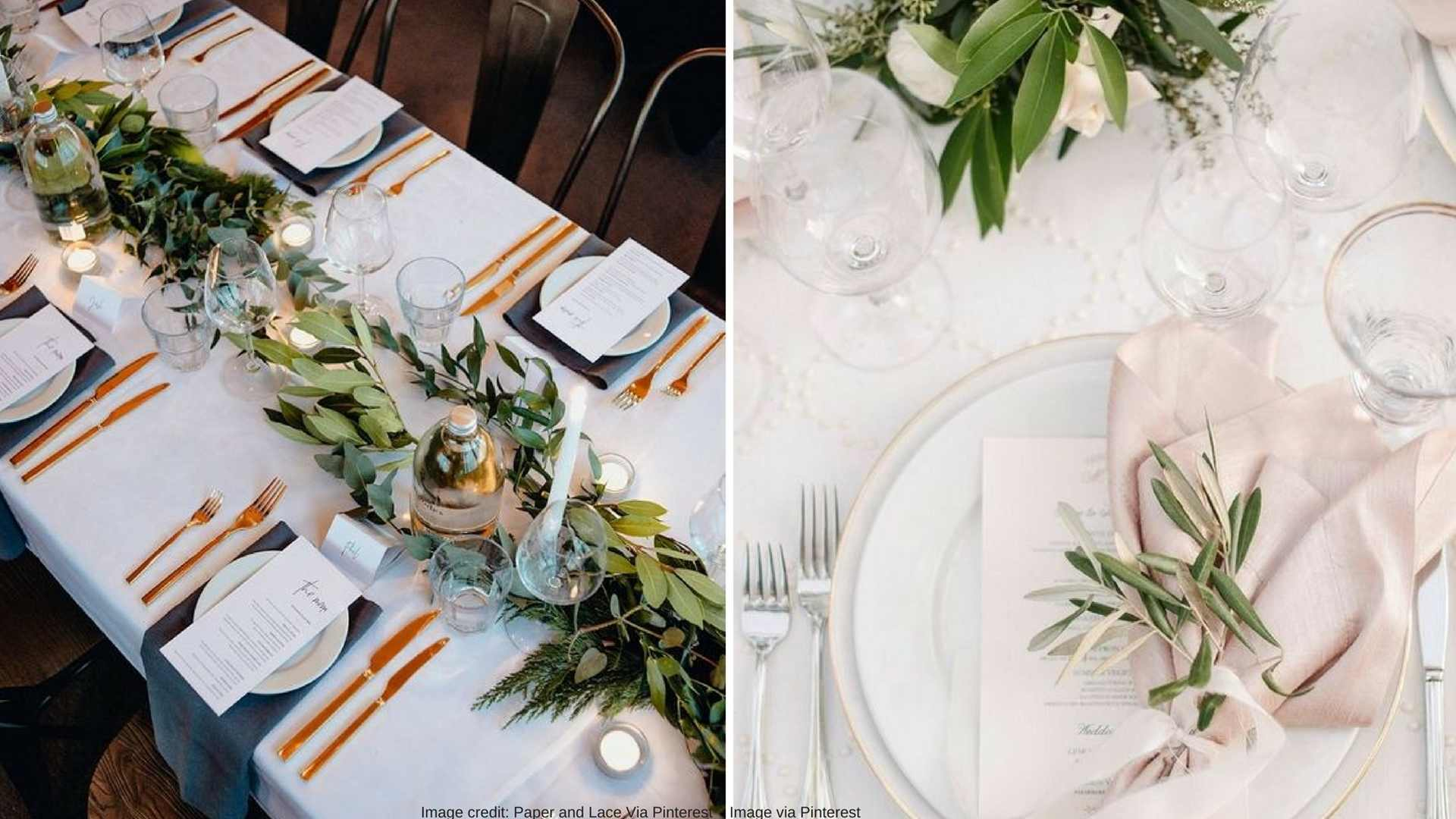 The difference is subtle, but without the salt and pepper, bread plate, and that extra glass your guests will have a bit more room