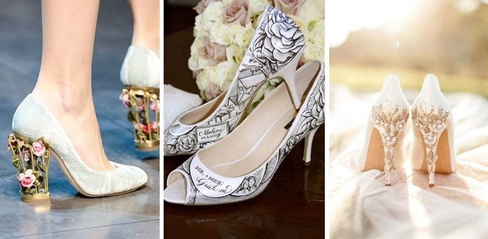 Stand out even more with unique wedding shoes styled to your personality