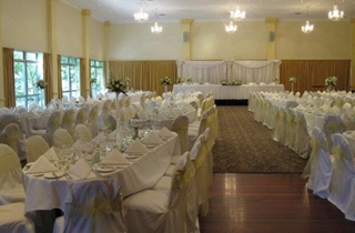 Wedding Venue - Shangri La Gardens  - Sylvia Room 1 - Sylvia Room Lemon Sashes on Veilability
