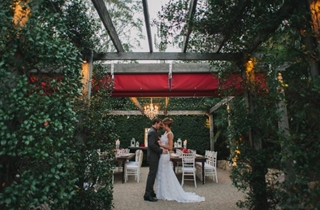 The Courtyard Garden wedding reception venue at Hillstone St Lucia