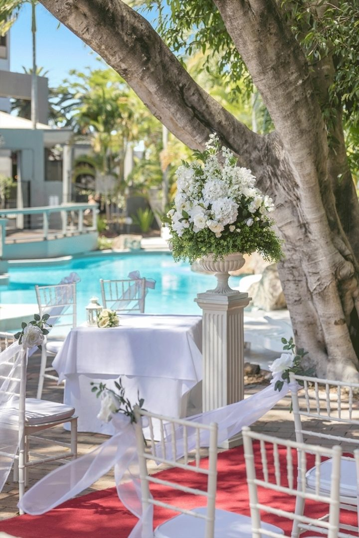 Wedding Venue - Brisbane Riverview Hotel - Poolside Venue 2 on Veilability