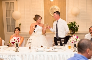 Wedding Venue - Tennysons Garden at The Brisbane Golf Club - The Tennyson Room 9 - Bridal Couple Toast on Veilability