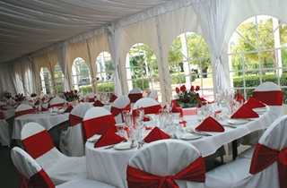 Wedding Venue - The Glen Hotel - Silk Lined Marquee 1 on Veilability